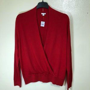 J Jill Wrap Front Sweater